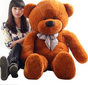 Large Teddy Bear Giant Teddy Bears Big Soft Plush Toys Kids 60/80/100cm UK hot 4