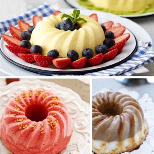 12 Pcs Spiral Silicone Bundt Swirl Ring Cake Baking Tin Mold Mould Pan Bakeware