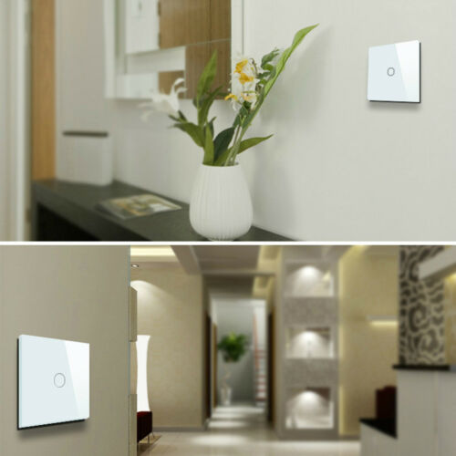 Smart 1/2/3 Gang EU Panel Glass Touch LED Light Switch Wifi,Remote,Dimmer Switch 6