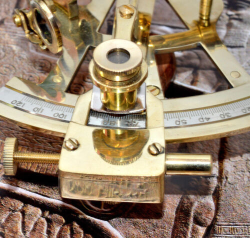 Nautical Ship Instrument Astrolabe Marine Brass Sextant 3