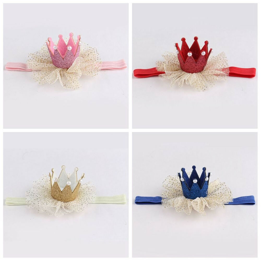 Am_ Kids Baby Girl Toddler Lace Crown Hair Band Headwear Headband Accessories Ni 6