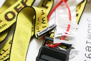 Cintura cravatta industriale off white Fibbia in-ferro giallo in 100-200CM 6