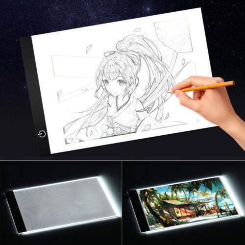 A4 A3 USB LED Caja de Luz Tattoo Artist Plantilla Tablero Mesa Dibujo Trazos SP 3