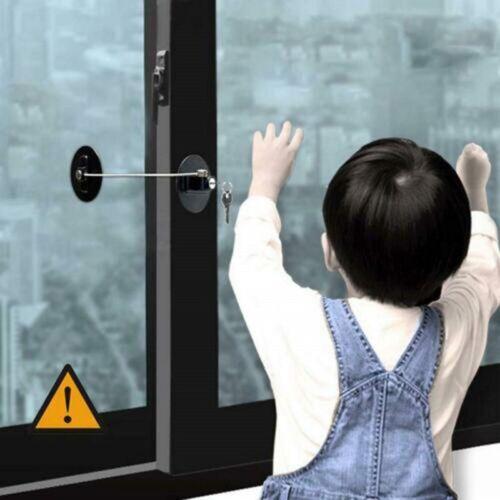 Child Safety Lock Window Kids Securitys Refrigerator Door Lock Limit with-Key US 11