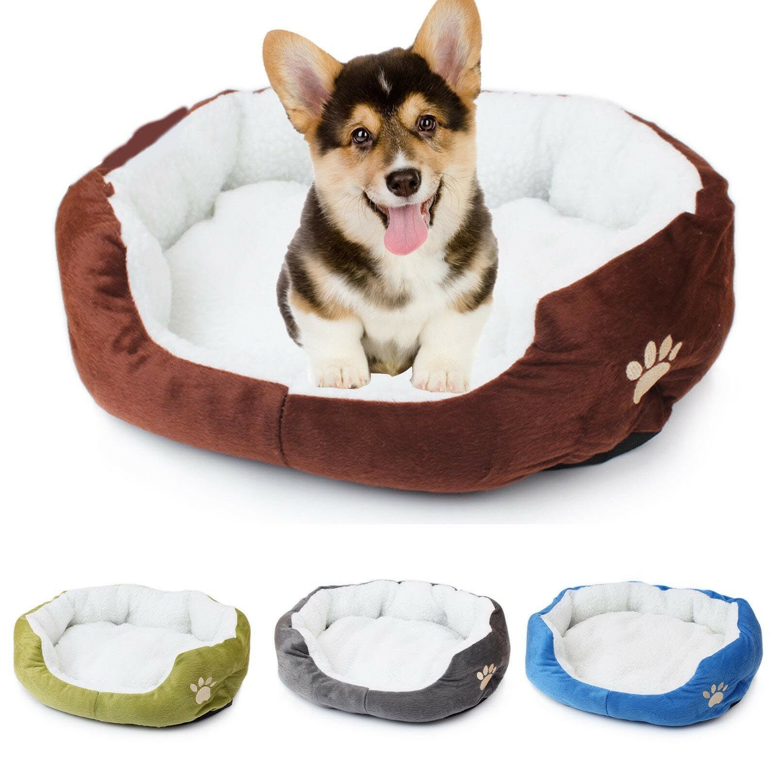Indoor Pet Dog Cat Bed Puppy Cushion House Soft Warm Kennel Mat Blanket Washable 2