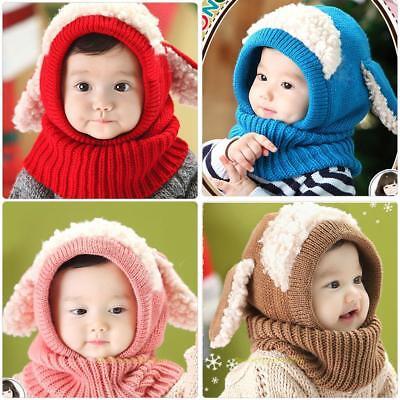 Baby Kinder Mützen Cap StrickMütze Wintermütze Schlupfmütze Schalmütze 0-5 Jahre
