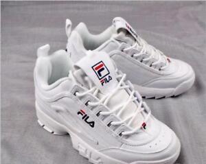 Hot FILA Disruptor II 2 White Authentic Shoes Unisex Size eur35-44 3