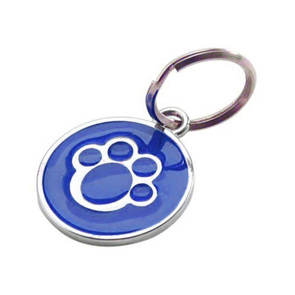 QA_ Anti-lost ENGRAVING Dog Cat ID Name Tag Disc Personalised Puppy Pet Tags E 7
