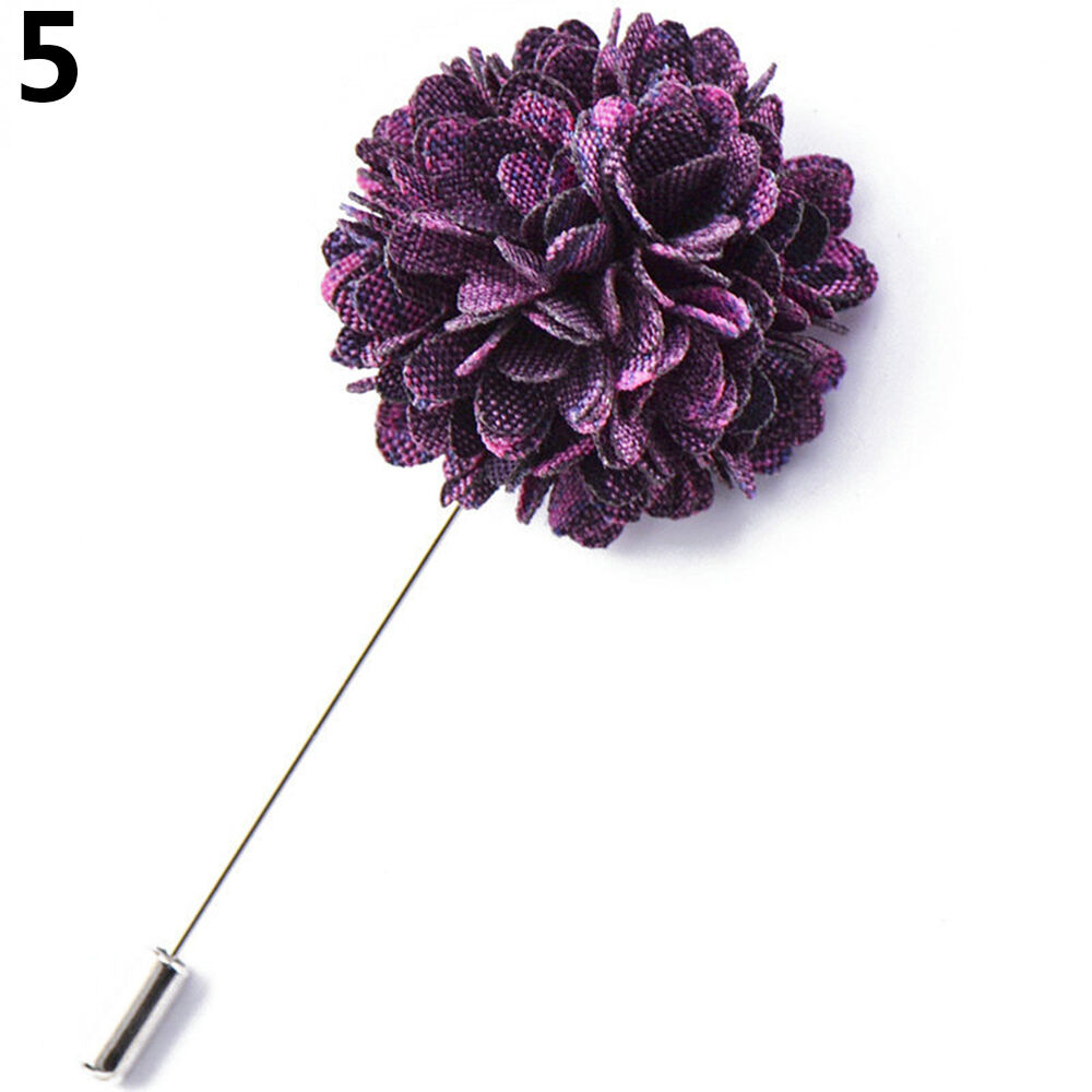 LC/_ Hommes'S Costume Smoking Fleur Revers Epingle Broche Mariage Bal Promo