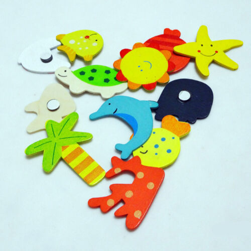 Wood Cute Fridge Magnet Alphabet Animal Number Early Educational for Kids Baby 6