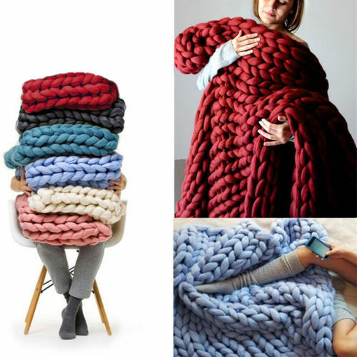 250g Super Thick Bulky Wool Yarn Soft Chunky Hand Knitting Hat Scarf Blanket GY 6