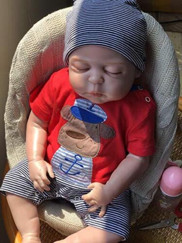 22'' Reborn Baby Dolls Realistic Cute Newborn Doll Lifelike Bebe Xmas Gift 4