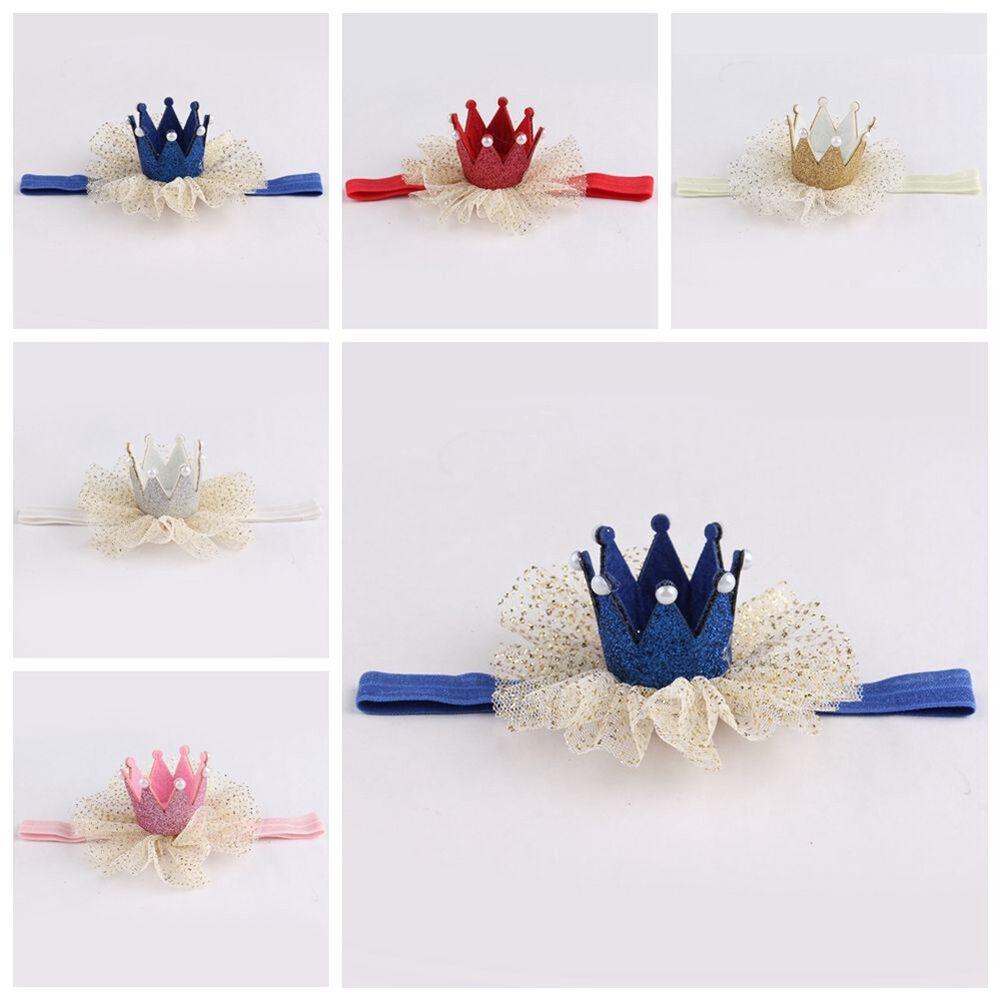 Am_ Kids Baby Girl Toddler Lace Crown Hair Band Headwear Headband Accessories Ni 10
