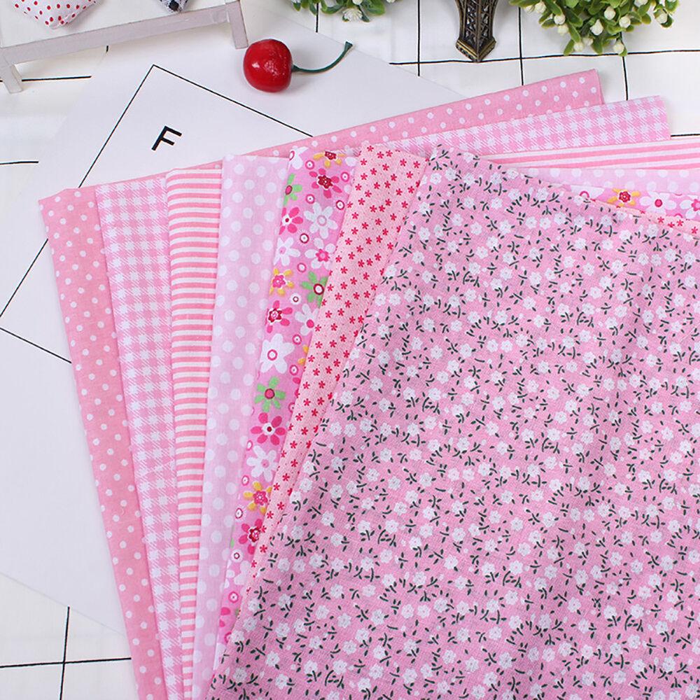 Cn_7pz Patchwork Floreale Tessuto di Cotone Tinta Unita Panno per Fai da Te 6