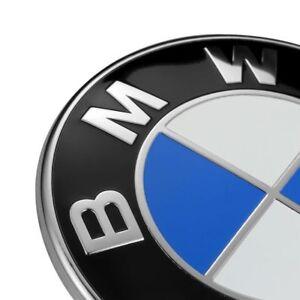 2PCS Front Hood & Rear Trunk (82mm & 74mm) FOR BMW Badge Emblem 51148132375 7
