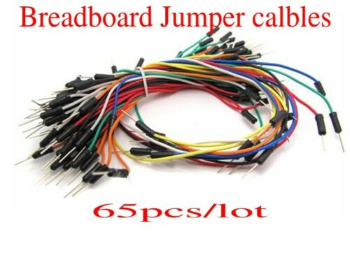 1//2//5//10PCS 65pc Flexible Solderless Breadboard Jumper Wires Cable Male to Male#
