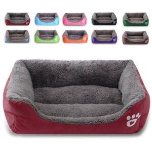 Large pet dog cat bed soft warm mat kennel mat washable candy color square nest 4