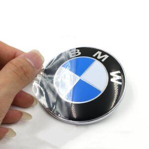 2PCS Front Hood & Rear Trunk (82mm & 74mm) FOR BMW Badge Emblem 51148132375 2