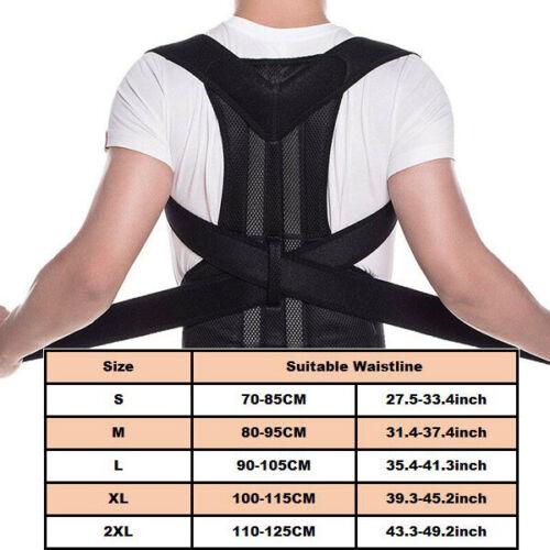 Posture Corrector Brace Women Men Full Back Support Clavicle Shoulder Belt Body 11
