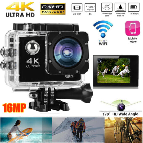 4K Ultra HD Sports Camera WIFI Helmet Mini DV Carry Case Bundle Action Camcorder 4