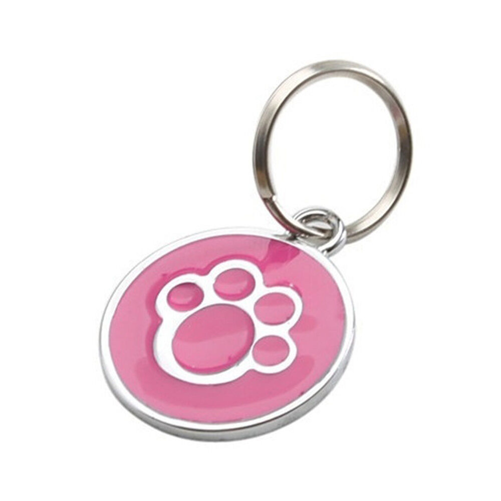 QA_ Anti-lost ENGRAVING Dog Cat ID Name Tag Disc Personalised Puppy Pet Tags E 5