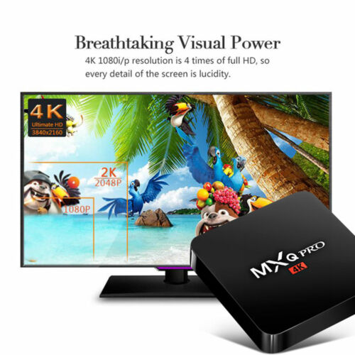 S905W MXQ Pro 4K  64-bit Android 7.1 DDR4 3D Smart TV HD Box 17.6 +Mini KEYBOARD 4