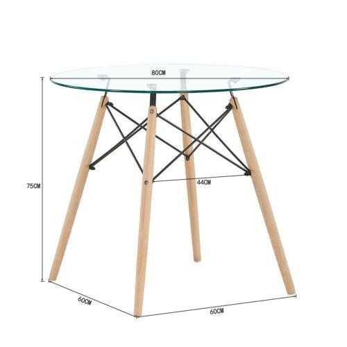 Ensemble Table Chaises Scandinave Ronde Verre Table Et Lot