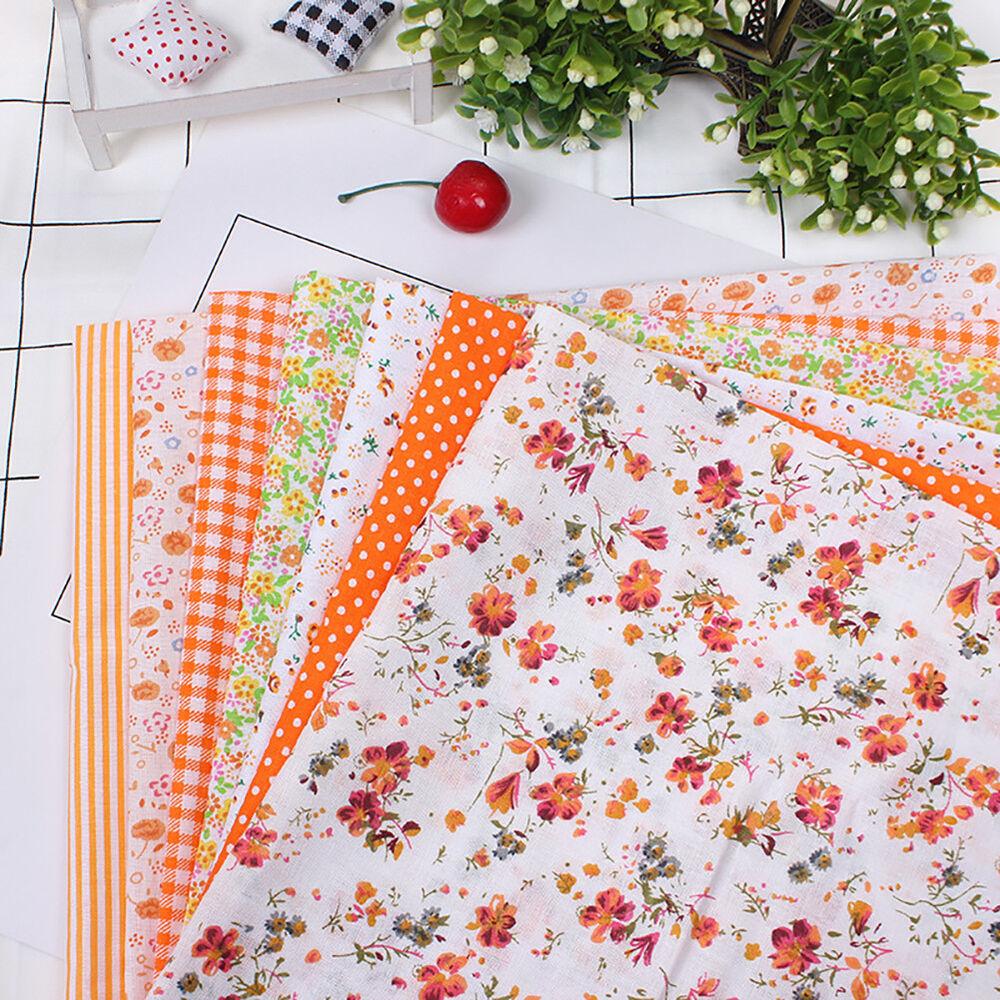 Cn_7pz Patchwork Floreale Tessuto di Cotone Tinta Unita Panno per Fai da Te 9
