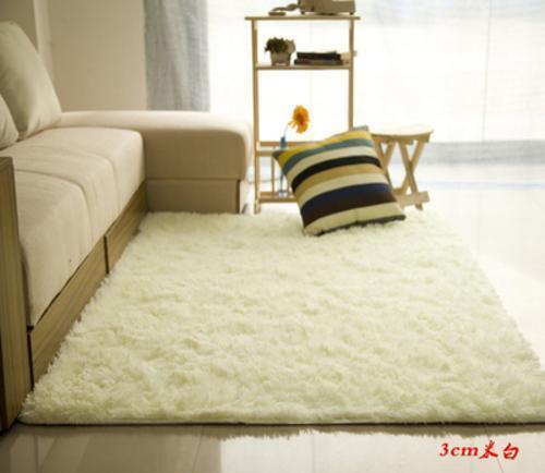 Fluffy Rugs Anti-Skid Shaggy Area Rug Dining Room Carpet Floor Mat Home Bedroom 6
