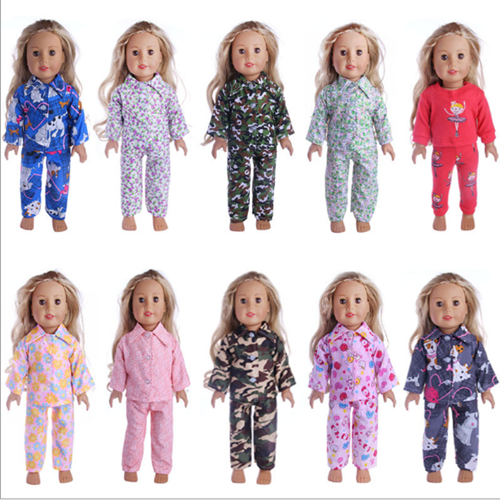 Cute Pajamas PJS Nightgown Clothes for 18 inch Our Generation American Girl Doll 3