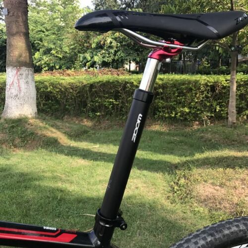MTB Bike spring Suspension Seatpost 40//50mm Travel seat saddle post 27.2-33.9mm