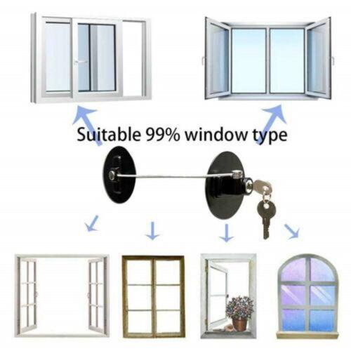 Child Safety Lock Window Kids Securitys Refrigerator Door Lock Limit with-Key US 10