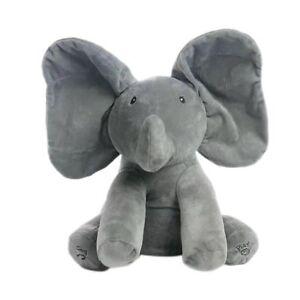 Peek-a-boo Singing Elephant Music Doll Plush Toy Stuffed Toys Kids XMAS Gift UK 3