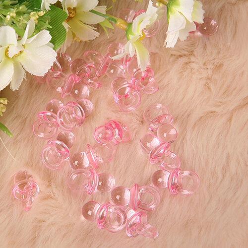LC_ 50x Rose Mini Sucettes Bébé Fille Garçon Tétine Douche Cadeau de Fête 9