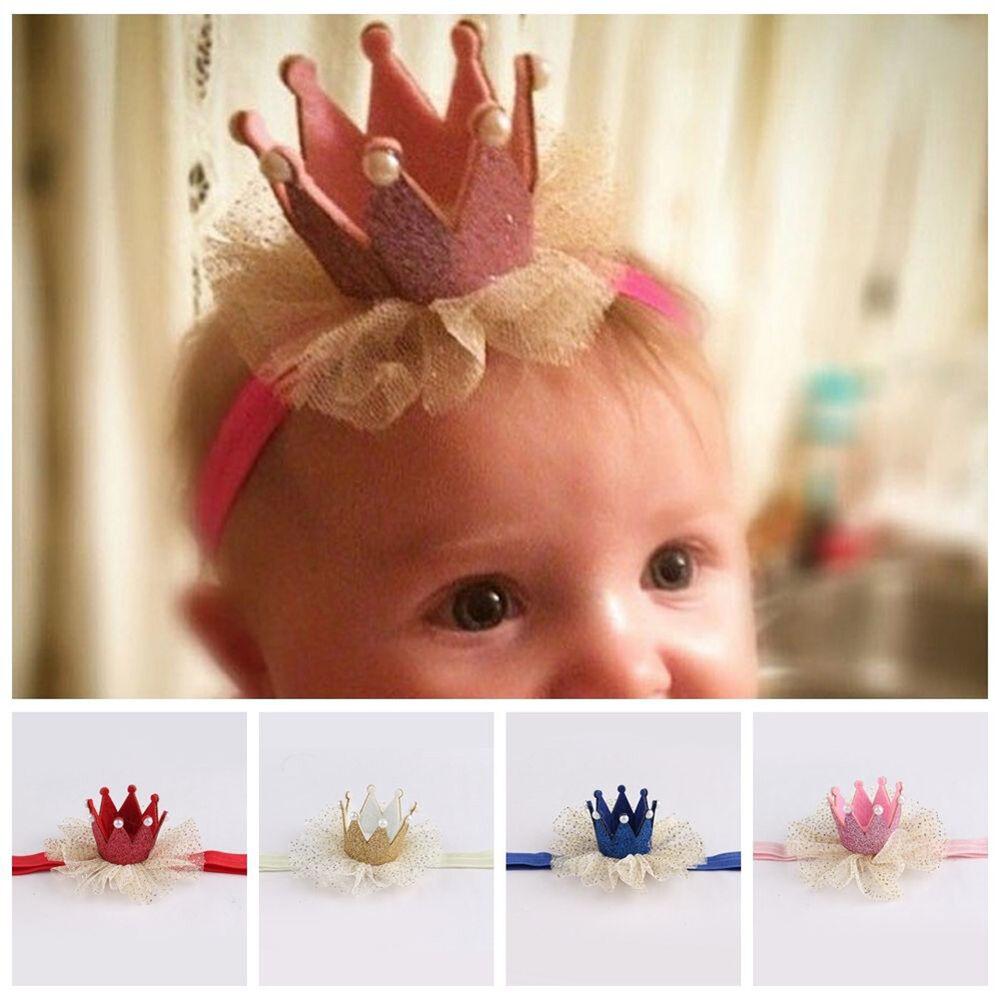 Am_ Kids Baby Girl Toddler Lace Crown Hair Band Headwear Headband Accessories Ni 7