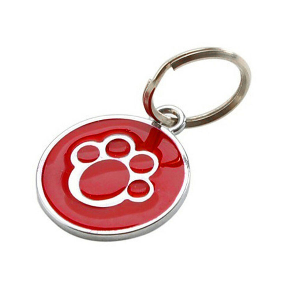 QA_ Anti-lost ENGRAVING Dog Cat ID Name Tag Disc Personalised Puppy Pet Tags E 6