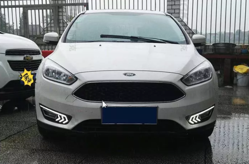 2x White Led Drl Driving Daytime Running Day Fog Lights For Ford Focus 2017 2 Of 8