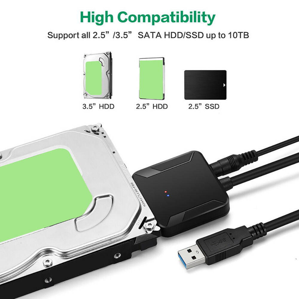 ALS_ SATA to USB 3.0 2.5/3.5 HDD SSD Hard Drive Disk Converter Cable Line Adapte 5