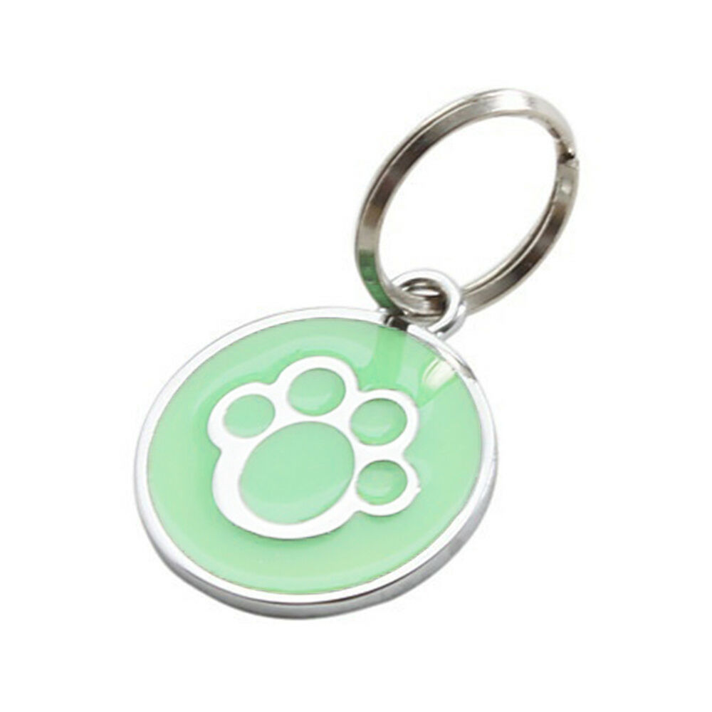 QA_ Anti-lost ENGRAVING Dog Cat ID Name Tag Disc Personalised Puppy Pet Tags E 4