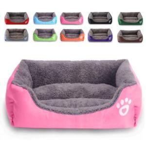 Large pet dog cat bed soft warm mat kennel mat washable candy color square nest 2