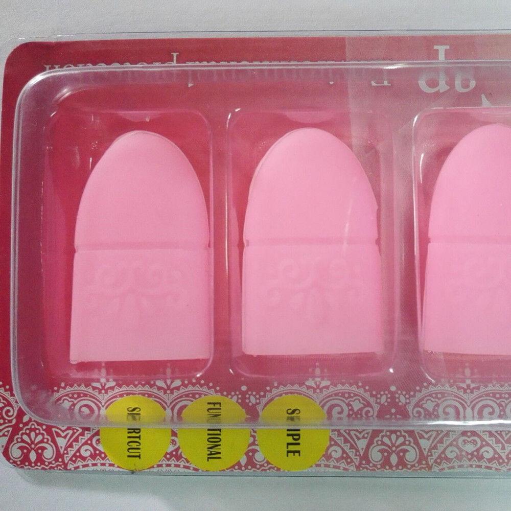EP_ 10Pcs Silicone Nail Art Soak Off Clip Cap Set UV Gel Polish Remover Tools Gr 8