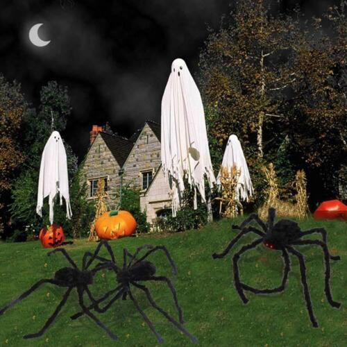 US 6.6FT Plush Giant Spider Decoration Halloween Haunted House Yard Garden Props 5