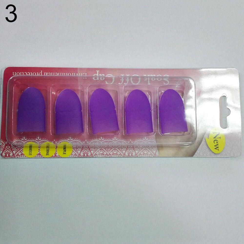 EP_ 10Pcs Silicone Nail Art Soak Off Clip Cap Set UV Gel Polish Remover Tools Gr 4