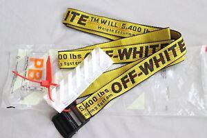Cintura cravatta industriale off white Fibbia in-ferro giallo in 100-200CM 2
