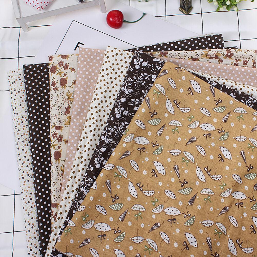 Cn_7pz Patchwork Floreale Tessuto di Cotone Tinta Unita Panno per Fai da Te 10