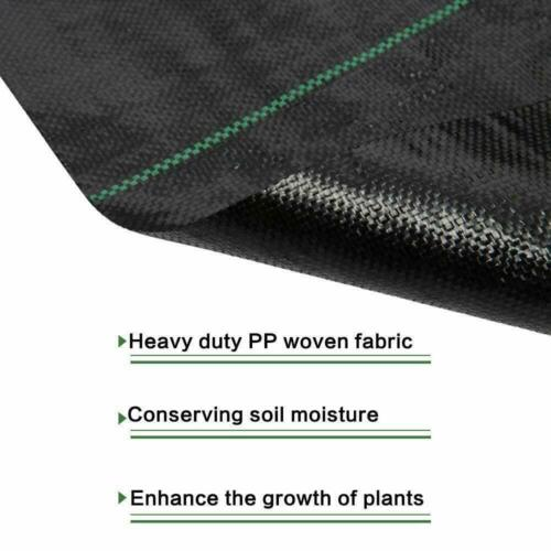 Heavy Duty Fabric Weed Control Membrane Garden Ground Cover Mat Landscape Sheet 11