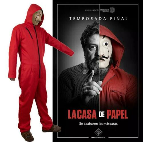 La casa de papel Salvador Dali Cosplay Casa di carta Costume Maschera Outfits It 3