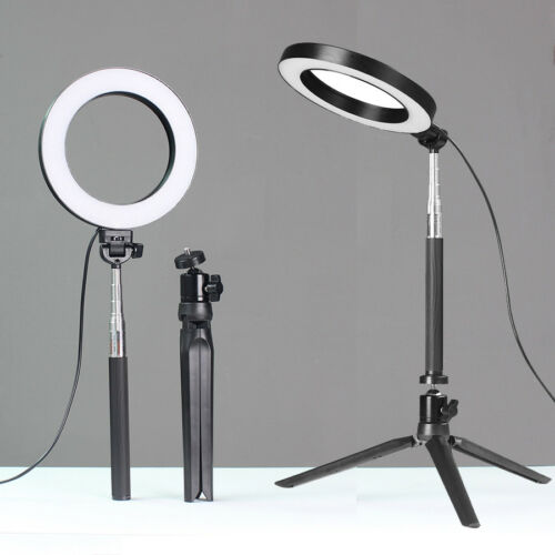 LED Ring Light Dimmable 5500K Lamp Photography Camera Photo Studio Phone Video 4