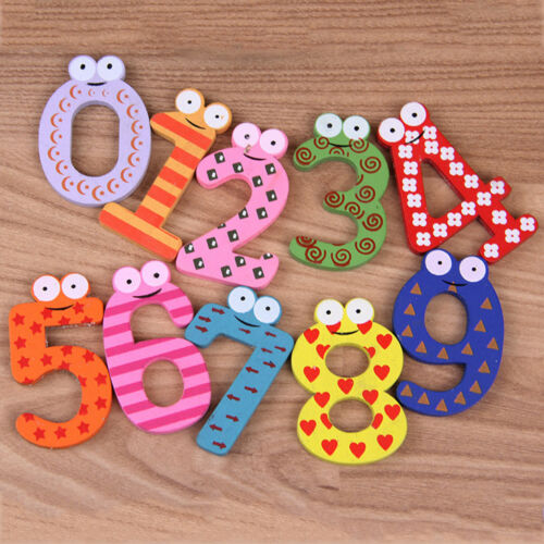 Wood Cute Fridge Magnet Alphabet Animal Number Early Educational for Kids Baby 8