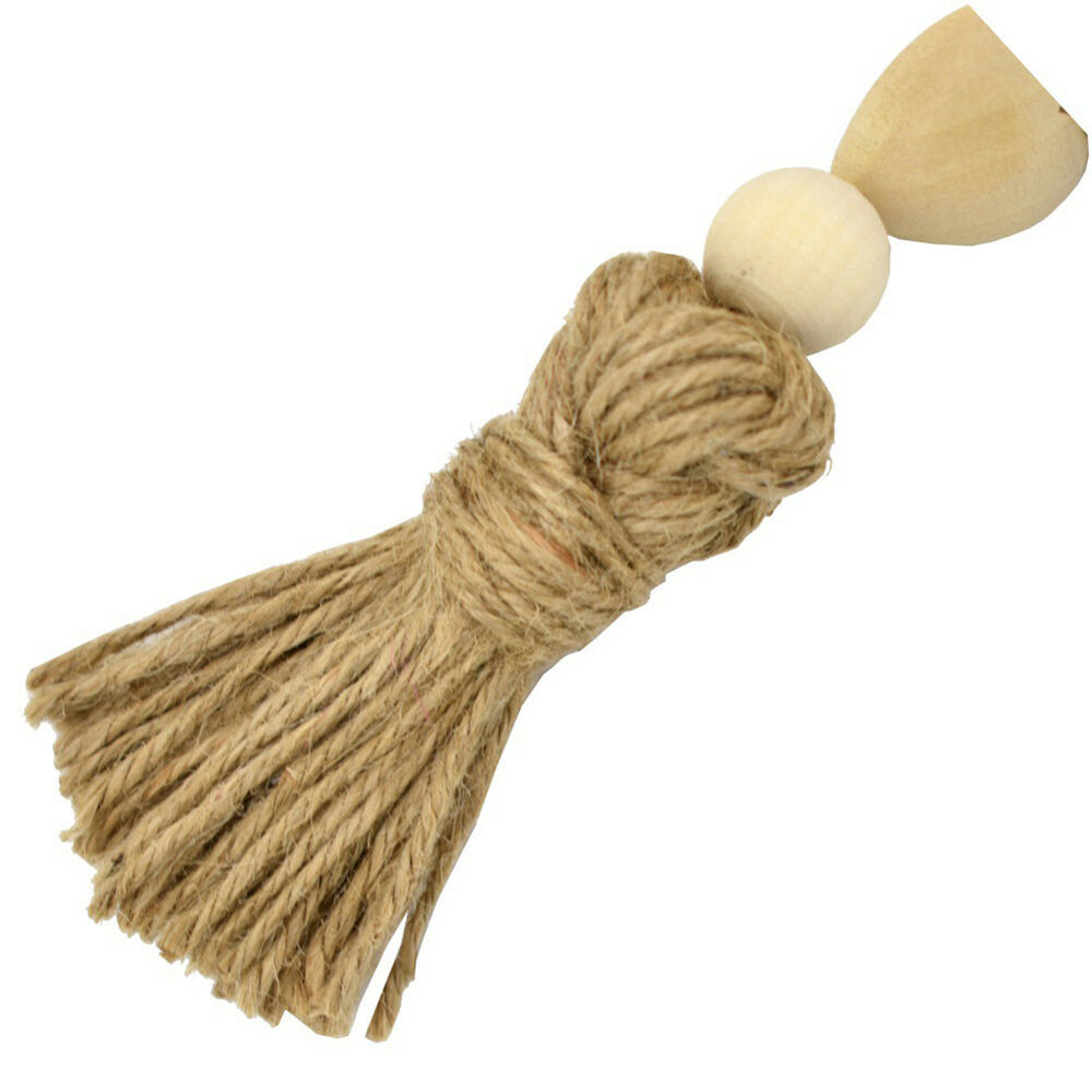 WR_ Nordic Heart Wooden Beads Tassels Hanging Ornament Home Wall Decoration Myst 12